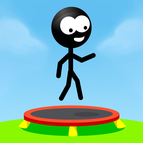 Trampoline Stickman